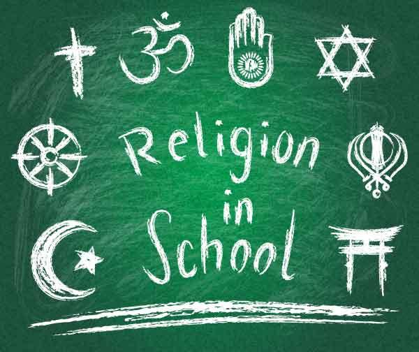 religion in schools As a teacher of future teachers, i often ask my students a question: does religion  belong in public school classrooms frequently, many of.
