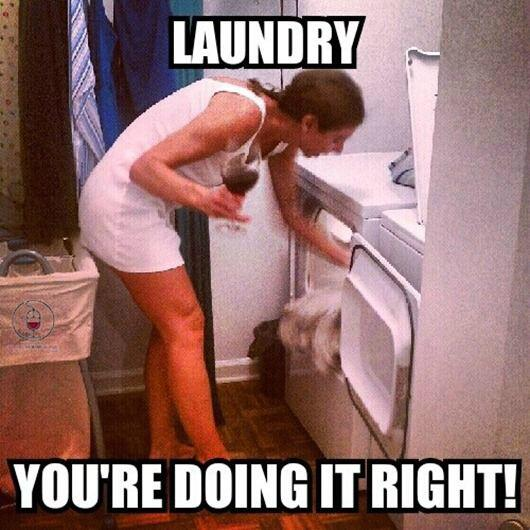 wine laughs funny stuff laundry doing it right