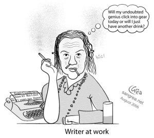 writer cartoon